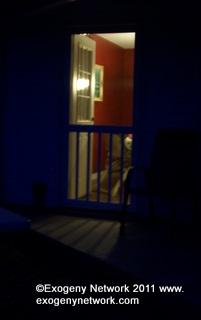 door way at night