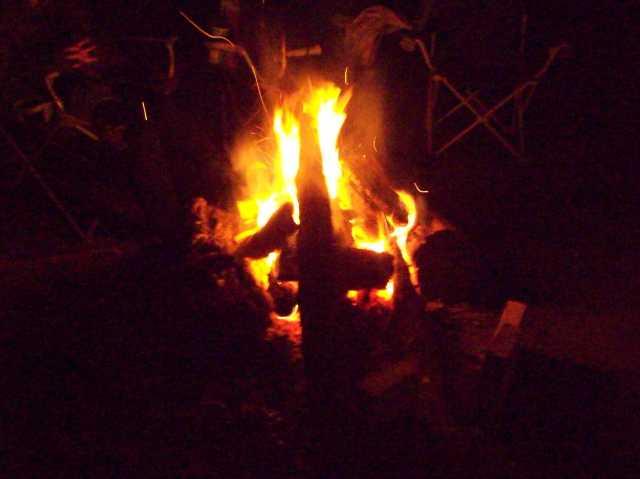 summertime campfire